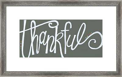 Thankful Framed Print by Alli Rogosich