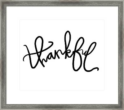 Thankful Framed Print by Anna Quach