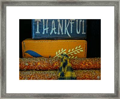 Thankful Country Arts And Crafts Framed Print by Dan Sproul