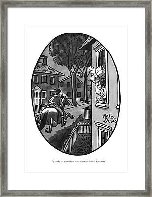 Thanks, But What About Those Silver Candlesticks Framed Print by Peter Arno