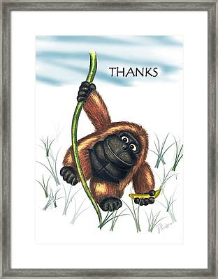 Thanks Framed Print by Jerry Ruffin