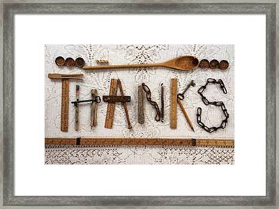 Thanks Framed Print