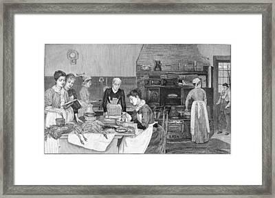 Thanksgiving, 1890 Framed Print