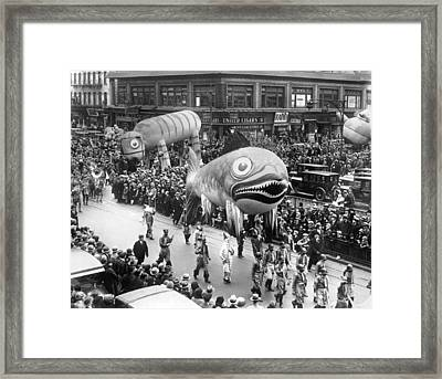 Thanksgiving Day Parade Framed Print by Underwood Archives
