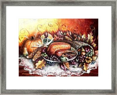 Thanksgiving Dinner Framed Print by Shana Rowe Jackson