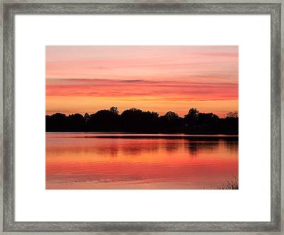 Framed Print featuring the photograph Thanksgiving Evening 001 by Chris Mercer
