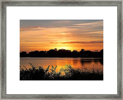 Framed Print featuring the photograph Thanksgiving Evening by Chris Mercer