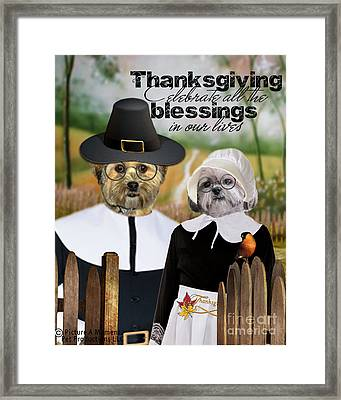 Thanksgiving From The Dogs Framed Print