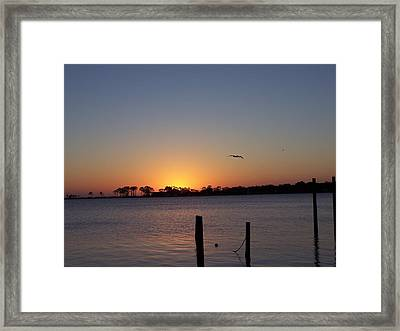 Framed Print featuring the photograph Thanksgiving Sunrise by Michele Kaiser
