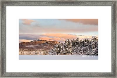 Thanksgiving Sunrise On Mt Chocorua Framed Print by Scott Thorp