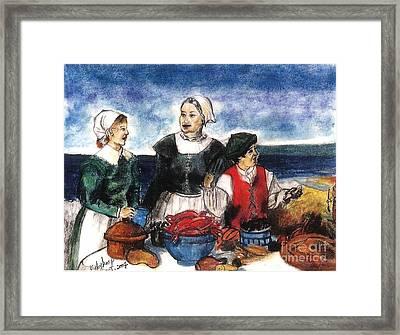 Thanksgiving Supper Framed Print