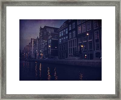 That Evening In Amsterdam Framed Print by Laurie Search