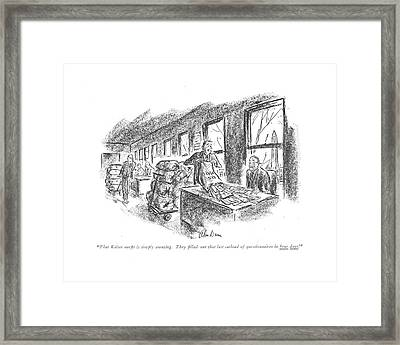 That Kaiser Out?t Is Simply Amazing. They ?lled Framed Print