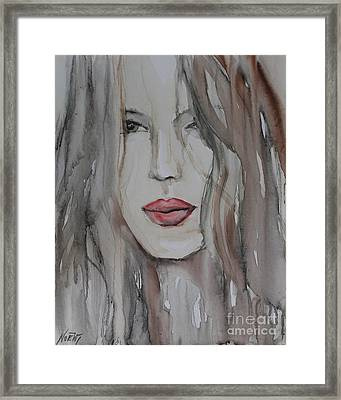 That Lips Framed Print by Jindra Noewi