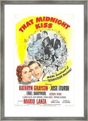 That Midnight Kiss, Us Poster, Kathryn Framed Print by Everett