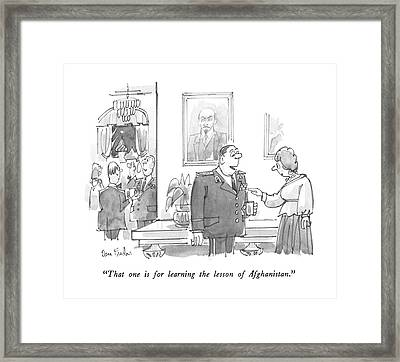 That One Is For Learning The Lesson Framed Print