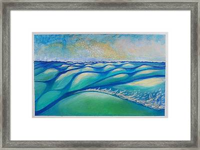 That One Wave That Says You're On Land And  That Whole Sky That Says It's All A Dream  Framed Print