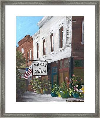 That Place In Apalach Framed Print by Susan Richardson