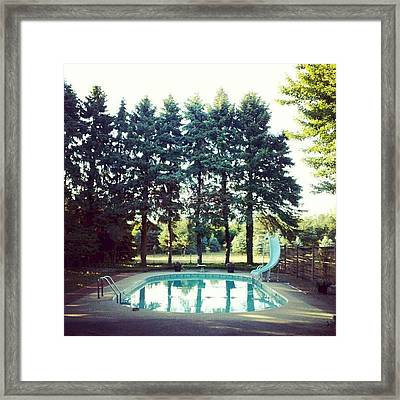 That Pool Looks Nice And Cool Framed Print