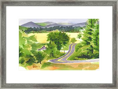 That Ribbon Of Highway Out Jj Framed Print by Kip DeVore