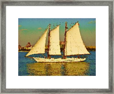 That Ship Framed Print by Alice Gipson