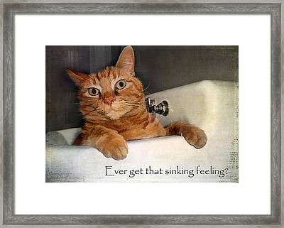That Sinking Feeling Framed Print