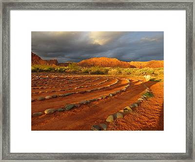 Framed Print featuring the photograph St George, Utah by Jean Marie Maggi