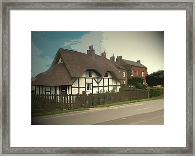 Thatch Cottage,  Coton In The Clay, Perfectly Presented Framed Print