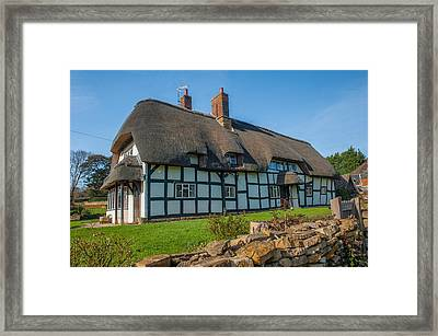 Thatched Cottage Ashton Under Hill Worcestershire Framed Print by David Ross