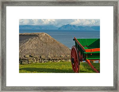 Thatched Cottage In Kilmuir Isle Of Skye Framed Print by David Ross