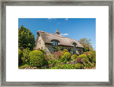 Thatched Cottage Niton Isle Of Wight Framed Print by David Ross