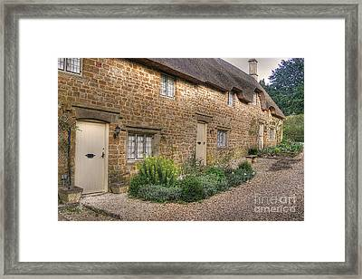 Thatched Cottages In Oxfordshire Framed Print