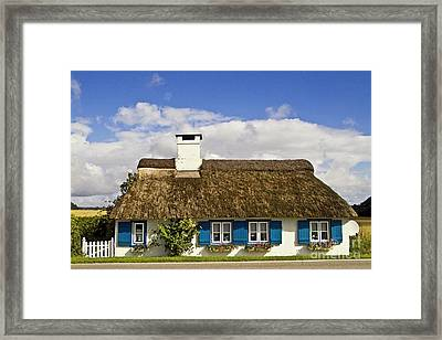 Thatched Country House Framed Print by Heiko Koehrer-Wagner