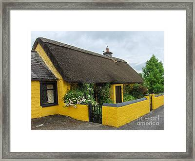 Thatched House Ireland Framed Print by Brenda Brown