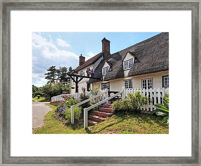 Thatched Inn - Coach And Horses Framed Print