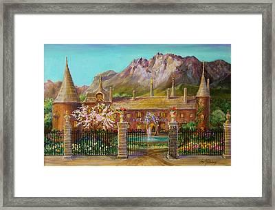 Thatched Roof Castle Framed Print