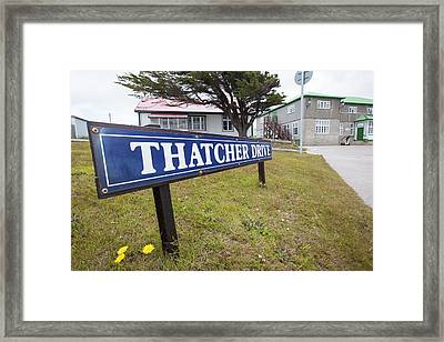 Thatcher Drive In Port Stanley Framed Print by Ashley Cooper