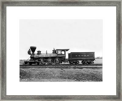 Thatcher Perkins Locomotive Framed Print by Underwood Archives