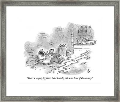 That's A Mighty Big Louse Framed Print by Frank Cotham