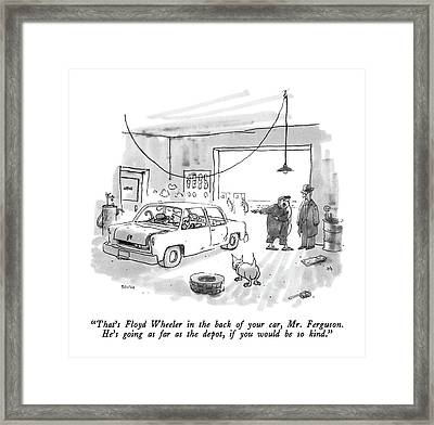 That's Floyd Wheeler In The Back Of Your Car Framed Print