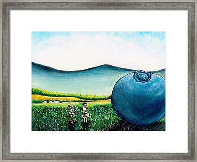 That's Gonna Make A Lot Of Pies Framed Print by Shana Rowe Jackson
