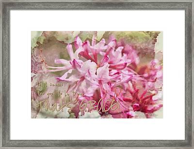 Thats Grace Framed Print by Michelle Greene Wheeler
