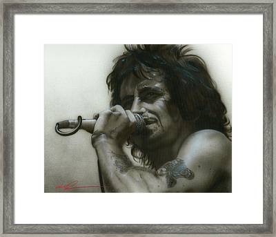 Bon Scott - ' That's How It Goes Playing In A Band ' Framed Print by Christian Chapman Art
