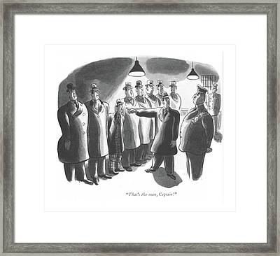 That's The Man Framed Print by Robert J. Day