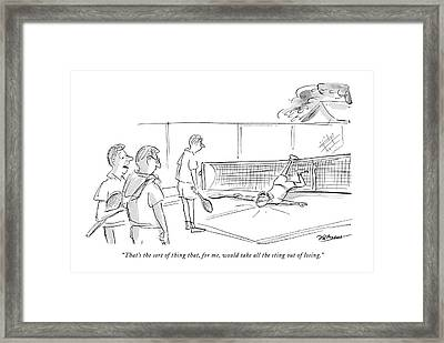That's The Sort Of Thing That Framed Print by Frank Modell