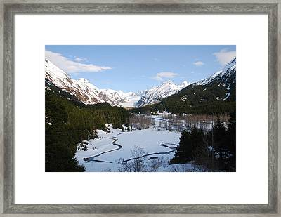 Thawing Mountain Stream Framed Print