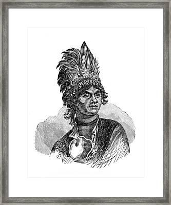 Thayendanegea, Joseph Brant, Mohawk Framed Print by British Library