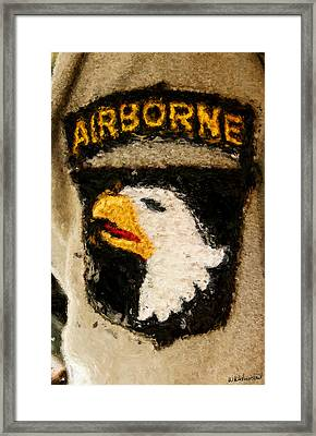 The 101st Airborne Emblem Painting Framed Print