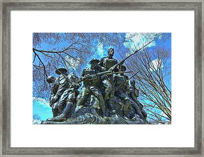 The 107th Infantry Memorial Sculpture Framed Print by Allen Beatty