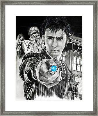 The 10th Doctor Framed Print by S G Williams